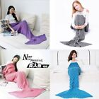 Women Adult Soft Hand Crocheted Mermaid Tail Blanket Sofa Blanket 195*90 cm US image