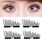 Magnetic 3D Eyelashes Reusable Long False Eye Lashes Makeup Extension 2-200PaR# günstig