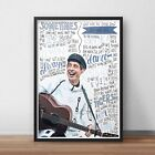 Gerry Cinnamon INSPIRED WALL ART Print / Poster A4 A3 / Erratic Cinematic Lyrics