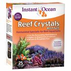 Instant Ocean Reef Crystal Sea Salt Marine Mix 10/25 Gal for Aquariums Fishtank