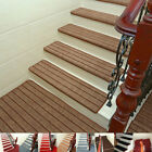Внешний вид - 13pcs Stair Treads Carpet Anti-skid Mat Non-Slip For Wood/Cement Floor Home UDW