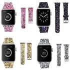 Apple Watch Band Leather Glitter Wrist Strap Bling Series 1 2 3 4 42/38 44/40mm image