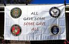 Military Service Flag Branch Some Gave All Banner & Car Truck License Plate Tag