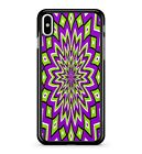 Trippy Purple Cool Green Dope Funky Hallucination Effect 2D Phone Case Cover