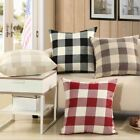 Throw Pillow Case Classic Retro Plaid Home Pillow Cover Cushion Cover