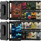 For Motorola Moto E4 (US Version) - Shock Combat Holster Bumper Case with Stand