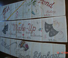 Handmade Machine Embroidered Wall Hanging Banner by ANN BEER - Your Choice