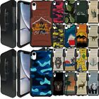 For {iPhone X / iPhone XS,] Rugged Dual Layer Holster Combo Case with Kickstand