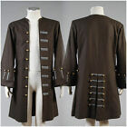 Pirates of the Caribbean Jack Sparrow Halloween COSplay Costume Coat Outfit Suit for sale  Shipping to Canada