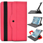 Universal 7 - 8 inch Tablet Slim Sleeve Folio Case Cover & Rotating Stand