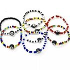 Magic Ball 8 of Billiards and Crystal Beads Elasctic Bracelet Handmade by Ruigos $9.99 USD on eBay