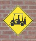 Golf Cart Crossing Warning Traffic & Parking .040 Metal Aluminum Sign