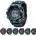 US Mens Digital LED Sports Wrist Watch For Children Kid Boys Male Birthday Gift image