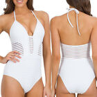 Women One-Piece Swimsuit Beachwear Swimwear push up Mesh monokini bikini Bathing