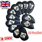 Golf Iron Headcovers Left Hand Right Hand 12 Pcs/Set PU Club Covers 3 Colors UK