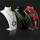Mannequin Necklace Jewelry Pendant Chain Display Bust Holder Stand Show Rack New