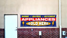 NEW & USED APPLIANCES SOLD HERE Banner Open Sign Display Fix Repair Service Shop photo