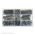 202 Assorted A2 Stainless Metric M5 / 5mm Hex Bolts Full & Nyloc Nuts,Washers