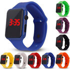 Fashion Unisex Digital LED Sports Watch Silicone Band Wrist Watches Men Children image