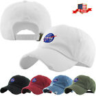 Nasa Insignia Embroidery Dad Hat Baseball Cap Unconstructed Cotton