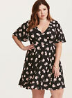TORRID RETRO CHIC FLORAL V-NECK FLUTTER SLEEVE DRESS, SALE