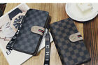 Contacts Genuine Mens Zipper Around Long Wallet Coin Clutch Purse Men's image