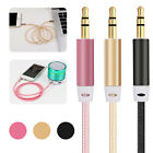 1M Braided 3.5mm Stereo Audio Extension Male to Male Auxiliary AUX Cable