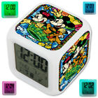Mickei Dale And Chip Cartoon LED Digital Alarm Clock 7 Color Changing Light