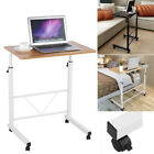 Adjustable Rolling Computer Desk Over The Sofa Bed Study Table Stand Home Office