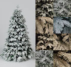 6ft, 7ft Cascade Premium Snow Flocked PE Christmas Tree W 2766 or 1870 Tips Xmas