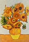 Van Gogh Sunfowers Oil Painting On Canvas Heavy textured Impasto for Home Decor