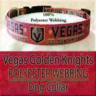 "Vegas Golden Knights Hot Red 1"" Adjustable Dog Collar - 3 Sizes-100% Webbing $22.0 USD on eBay"