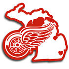 Detroit Red Wings Sticker for skateboard luggage laptop tumblers car a $7.99 USD on eBay