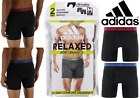 "Mens Adidas 2-pk. 6"" Relaxed Performance Climalite Boxer Briefs Sizes: M, L, XL"