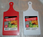 """KITCHEN CUTTING BOARD PADDLE SHAPE PLASTIC Double Sided 5.5""""x 8"""" Red or White"""
