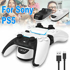 For PS5 DualSence Controller USB Dual Charger LED Dock Station Charging Stand US
