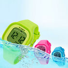 US LED Night Light Digital Sports Silicone Wrist Watches Waterproof Kid Girl Boy image