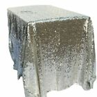 Glitter Sequin Rectangular Shape Sequin Table Cloth For Wedding Party Decoration
