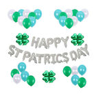 53 pcs Latex and Foil Balloons Lovely Round Balloon Banners for Hotel Home Party