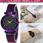 Women Starry Luxury Sky Diamond Dial Watch Magnetic Buckle Bracelet Watches Gift image