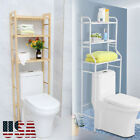 Over-the-Toilet Bath Bathroom Space Saver Storage Cabinet Organizer Wood New