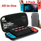 EVA Hard Protective Carrying Case Bag+ 3PCS Screen Protector For Nintendo Switch