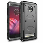 For Motorola Moto Z2 Play/ Force Case Shockproof Hybrid Rubber Armor Phone Cover