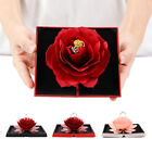 Folding Rotating Rose Wedding Ring Box Jewelry Display Box Wedding Favours