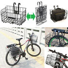 WIRE MESH FRONT/REAR BIKE SHOPPING STORAGE BASKET/BICYCLE Pannier Rack Carrier