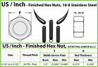Stainless Steel Finished Hex Nuts, ASTM F594 1/4-20, 1/4-28, 5/16-18 24, 3/8-16