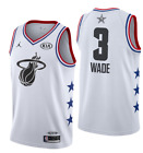NWT all star Miami Heat Dwyane Wade #3 Men's white jersey S-2XL on eBay
