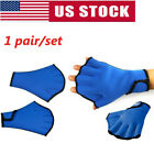 Swimming Gloves Hand Webbed Frogs Finger Aid Paddle Surfing Gloves Training US