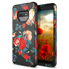 For Samsung Galaxy Note 8 9 S9 Plus Hard Case Rose Flower Girls Cute Cover