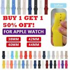 Sport Silicone Watch Band Strap for Apple Watch Series 4 3 38mm 40mm 44mm 42mm image